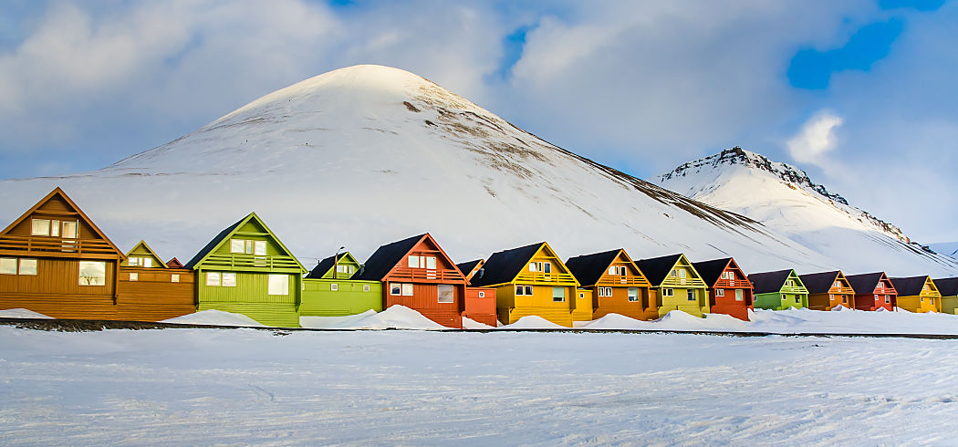 Arctic Svalbard destination pic colorful houses shutterstock 416265475 opt