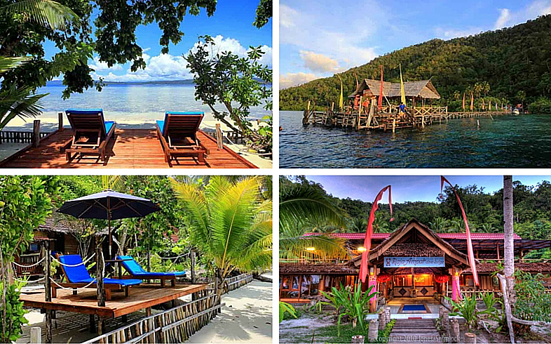 Raja ampat dive lodge indonesia scuba diving resort hotel - Raja laut dive resort ...