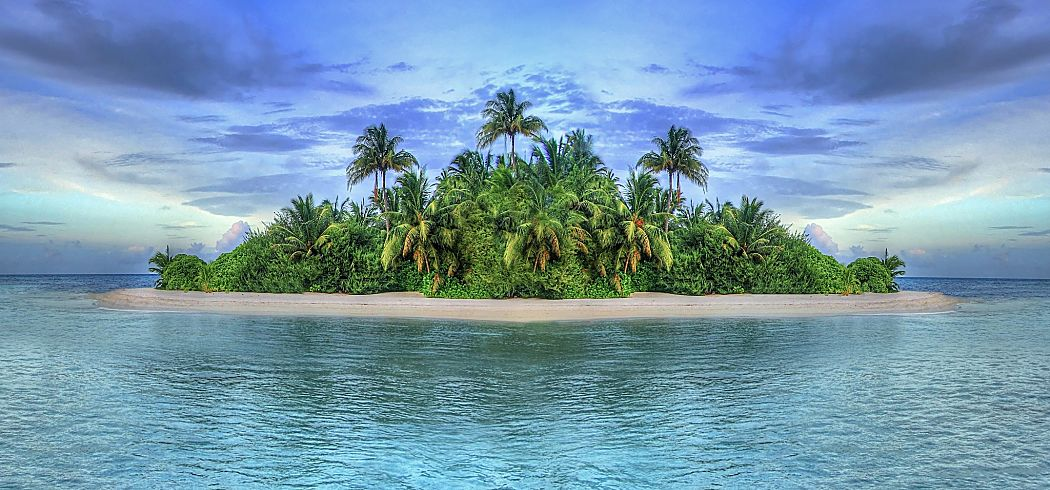 Maldives idealized tropical island shutterstock 100200350 opt