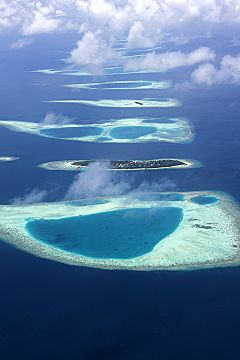 Maldives atolls from air 240x360
